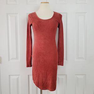 Ultra Flirt Velvety Ribbed Long Sleeve Dress